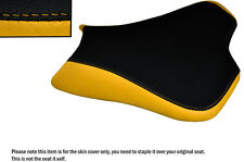 DESIGN 2 YELLOW & BLACK CUSTOM FITS KAWASAKI ZX10R 1000 08-10 FRONT SEAT COVER