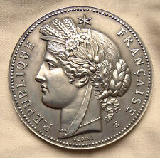 FRANCE 1880-1898, MINISTRY OF EDUCATION AWARD MEDAL SILVER 50mm MS