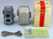 Rare N MINT in BOX Rolleiflex 4x4 Baby Gray TLR Film Camera 60mm F3.5 From Japan