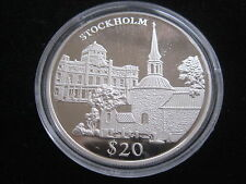 "MDS LIBERIA 20 DOLLARS 2000 PP / PROOF ""STOCKHOLM"", SILBER #30"