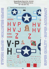 1/48 SuperScale Decals P-47M Black Bolts 61st FS 56th FG 48-940