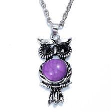 NEW Women Vintage Crystal Owl Pendant Necklace Long Chain Rhinestone Jewelry