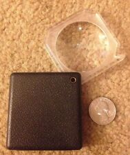 """magnifying glass pocket coin grading loupe reading compact travel science 2 1/2"""""""