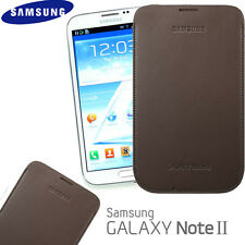 Original Samsung N7100 Galaxy Note Ii Note 2 Funda efc-1j9ldegstd - Brown