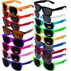 Sonnenbrillen 80er Wayfarer Nerd Brille Style Brillen Retro Atzenbrille Unifarbe