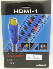 Audioquest HDMI-1 3 meter HDMI Cable Braided