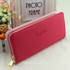 Hot Sale Women PU Leather Wallet Zip Around Case Purse Card Money Long Bags New