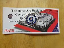Georgetown vs. Villanova Basketball Pin  1st College Men's Basketball Game MCI