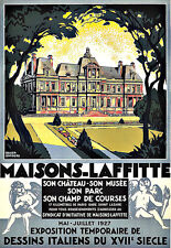Art Ad Maisons Laffitte Travel Deco Poster Print