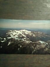 AIR SHOT MOUNT OLYMPUS VINTAGE POST CARD OLYMPIC NATIONAL PARK PORT ANGELES WA