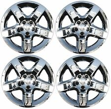 "NEW 2007-2010 SATURN AURA 17"" 5-spoke CHROME Hubcap Wheelcover SET of 4"