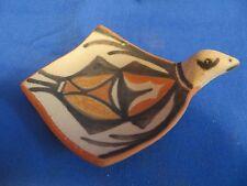 Kewa Santo Domingo Flying Bird Hand Formed Pottery Bowl Robert Tenorio Signed