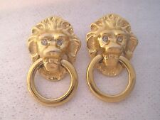 Earrings By K.J.L. Kenneth J Lane For Avon Pierced Lion Doorknocker Earrings