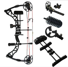 15-70Lbs Archery Compound Bow Black Right Hand Hunting Kit Adult Pro Shooting
