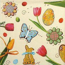 4 simple déjeuner fête serviettes en papier pour découpage decopatch craft printemps & pâques