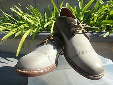 OluKai Walino Classic Oxford Leather and Suede, Lace Up, Silt & Mustang Mens 10M