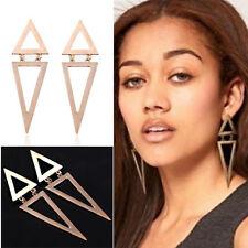 Womens Large Fashion Enamel Geometric Triangle Earring Ear Stud Eardrop Jewelry