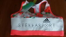 ADIDAS STELLA McCARTNEY  STELLASPORT BRA PAD AOP UK SIZE 12-14 MEDIUM BNWT