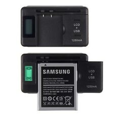 For Cell Phones LCD Indicator Screen Universal Mobile Battery Charger + USB-Port