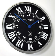 RONDE SOLO DE CARTIER DEALERS SHOWROOM WALL CLOCK DISPLAY