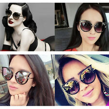 2016 Retro Unisex Sunglasses Metal Frame Golden Leg Cat Eye Shades Eyeglasses AO