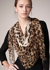 "ALEXANDER MCQUEEN beige SKULL Animal print 52""-Square silk scarf NEW Authentic!"