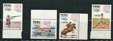 Peru- 4 MNH Stamps, 1990 4th South American Games, Lima, Catalog Value $14