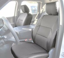 DODGE RAM 2009-2016 GREY S.LEATHER CUSTOM MADE FIT FRONT SEAT COVER