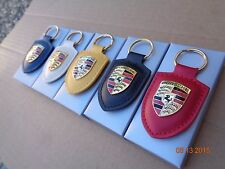 Porsche ORIGINAL leather KEY CHAIN 911 BOXSTER CARRERA PANAMERA CAYENNE CAYMAN