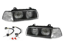 DEPO BMW E36 2DR EURO GLASS NIPPLE LENS PROJECTOR HEADLAMPS+CLEAR CORNER LAMPS
