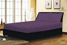 100% COTTON & POLY FITTED BED SHEET SINGLE DOUBLE KING SUPER KING