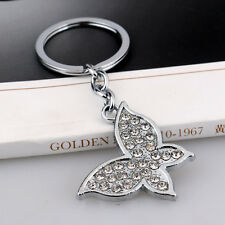 Crystal Butterfly Keyrings Pendant key Chains Silver Keychains Girls Women Gifts