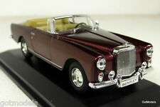 Road Sig 1/43 Scale 43214 Bentley S2 Continental DHC PW Red Diecast Model Car