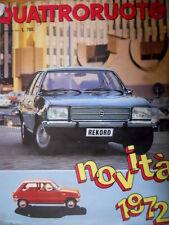 Quattroruote 194 1972 Inserto Quattroruote Junior. Novità: Fiat 130 - 3200 [Q75]