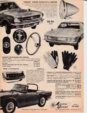 1965 TRIUMPH TR-4A / CORVAIR / MUSTANG  ~  GREAT ACCESSORIES UNLIMITED AD