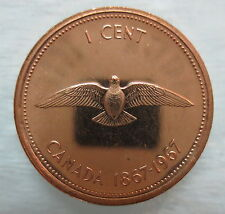 1967 CANADA 1 CENT PROOF-LIKE PENNY