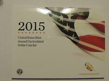 2015 United States Annual Uncirculated Dollar Coin Set (XA7)!