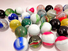 "Marbles Glass Shooters 1"" Game Ball VTG Toy 4 Assorted Machine Made Collectibles"