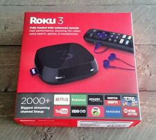 Roku 3 Streaming Device model 4230R w/ Remote, Charger, Earphones, & HDMI cable