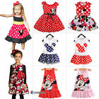 Kids Baby Girls Micky Minnie Mouse Party Tutu Dress Summer Skirt Clothes 1-7Y