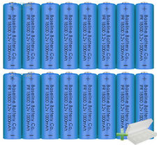 8pc IFR 18500 3.2v LiFePO4 Rechargeable Battery 1000mAh Li-Ion Lithium Phosphate