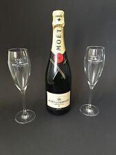 Moet chandon imperial botella de champán 0,75l 12% vol + 2 moët champagne vasos