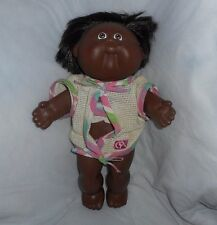 "13"" VINTAGE CABBAGE PATCH KIDS RUBBER BODY BLACK GIRL STUFFED ANIMAL PLUSH TOY"