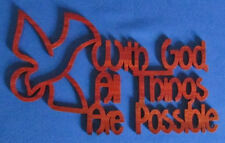 With God, All Things Are Possible (Matthew 19:26) - Hand Cut Wood Wall Hanging