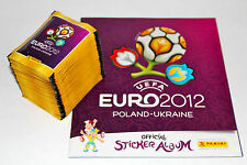 Panini em euro 2012 – 100 bolsas calidad + barra álbum album International version