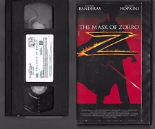 [o_o] VHS - THE MASK OF ZORRO - 1998 - ANTONIO BANDERAS - ANTHONY HOPKINS