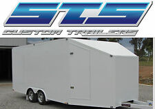 6.0M, RACE, SHOW, MOTOR BIKE, GO KART, ENCLOSED TANDEM CAR TRAILER
