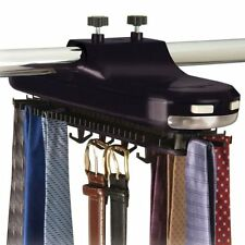 REVOLVING lighted TIE & BELT RACK hook ORGANIZER NEW ,Size: 1-Pack [AMH009] NEW