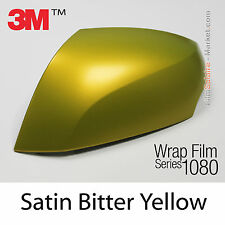 20x30cm FILM Satin Bitter Yellow 3M 1080 S335 Vinyle COVERING Series Wrapping