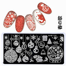 BORN PRETTY Nail Art Stamping Plates Image Stamp Template Christmas L001 12*6cm